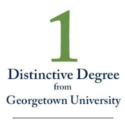 1 Distinctive Degree from  Georgetown University